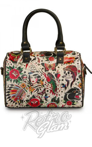 Loungefly Classic Tattoo Printed Pebble Duffle back