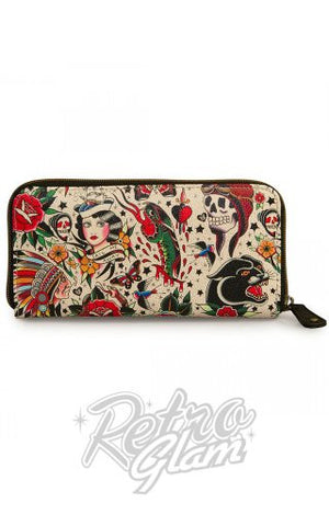 Loungefly Classic Tattoo Printed Pebble Wallet