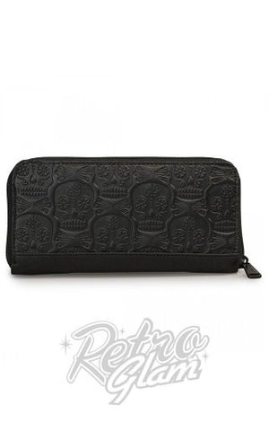 Loungefly Black Embossed Skull Wallet