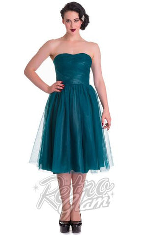 Hell Bunny Tamara Dress in Teal
