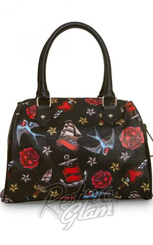 Loungefly Heart/Dagger, Sparrow & Roses Tattoo Duffle Bag