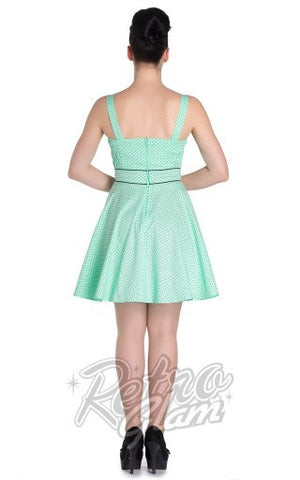 Hell Bunny Vanity Mini Dress in Mint