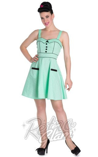 7910b49906f80f Hell Bunny Vanity Mini Dress in Mint – Retro Glam