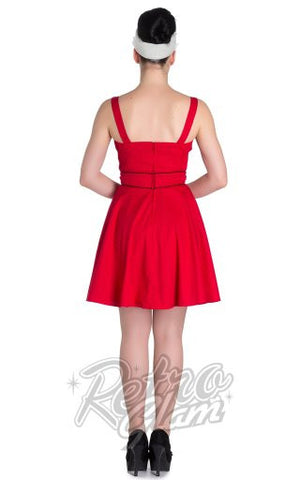 Hell Bunny Vanity Mini Dress in Red