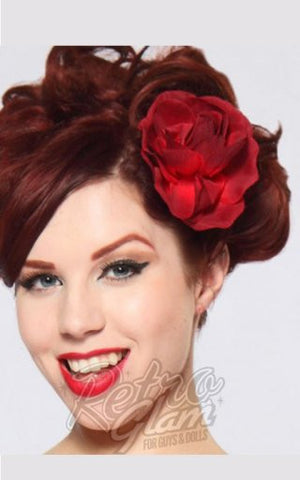 Heart of Haute Viva Hair Flower in Red