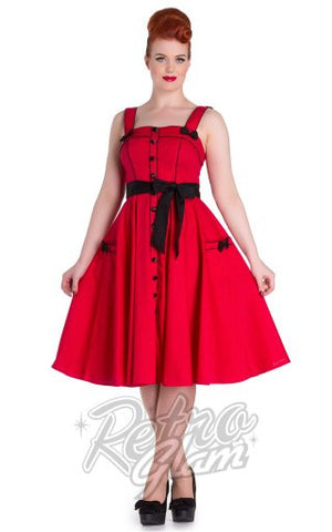 Hell Bunny Martie Rockabilly Dress in Red