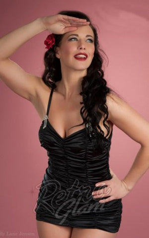 PinUp Couture Marilyn Swimsuit in Black
