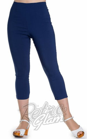 * Coming Soon * Hell Bunny Tina Capris in Navy Blue