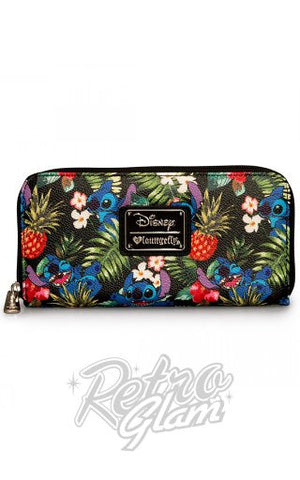 Loungefly Disney Stitch Hawaiian Pebble Wallet
