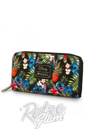 Loungefly Disney Stitch Hawaiian Pebble Wallet side