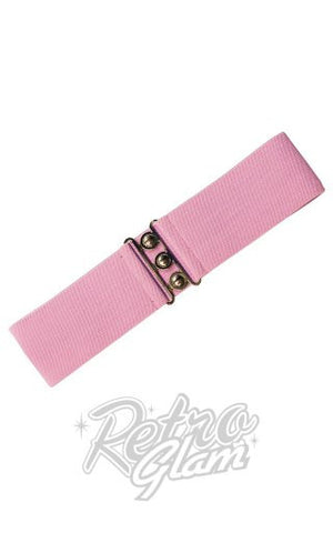Hell Bunny Retro Belt in Dolly Pink
