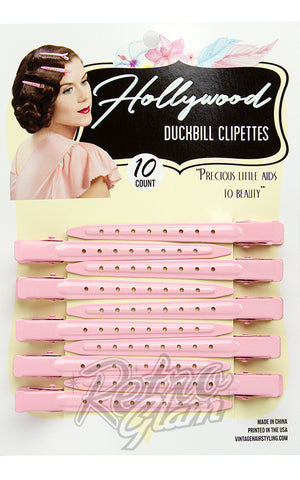 Hollywood Duckbill Clipettes in Pink