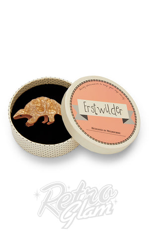 Erstwilder Roly Poly Pangolin Brooch box