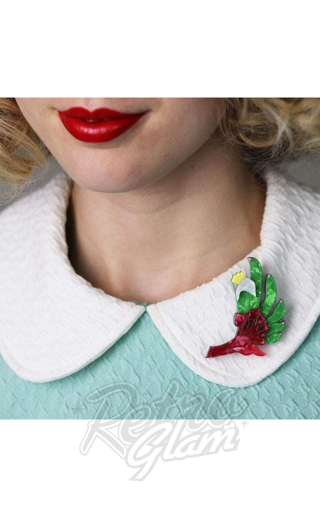 Erstwilder Bouncing Botanical Flower Brooch