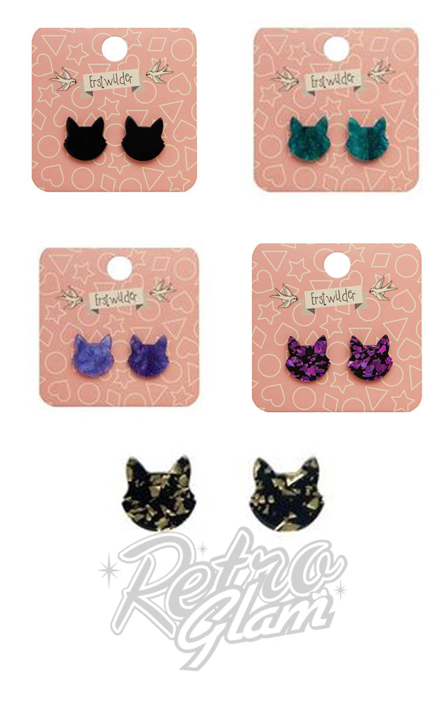 Erstwilder Essentials Cat Head Studs Earrings