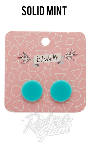 Erstwilder Circle Stud Earrings - Pick from current selection