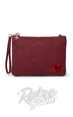Erstwilder Poppy Field Clutch Handbag