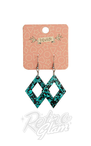 Erstwilder Diamond Resin Drop Earrings - Assorted Colors