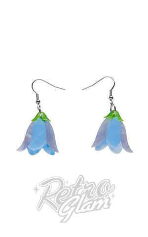 Erstwilder Favourite Flower Drop Earrings blue