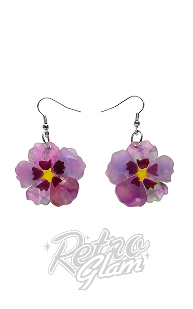 Erstwilder Purple Prose Drop Earrings