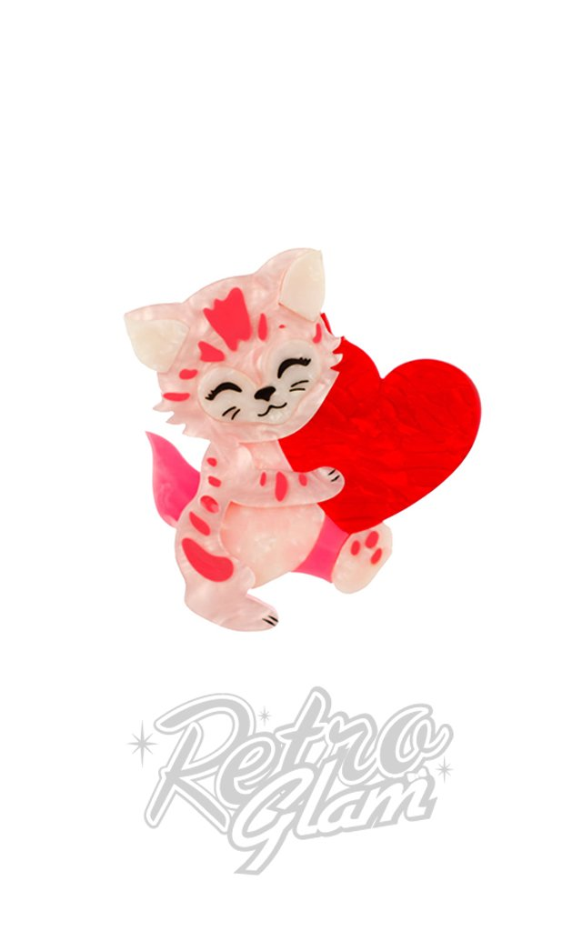 Erstwilder Feline the Love Brooch