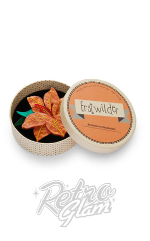 Erstwilder Frilly Lilly Frond Brooch box