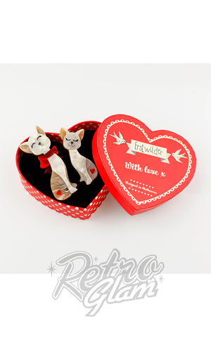 Erstwilder Fur-Ever Friends Brooch Set box