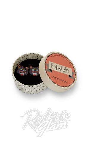 Erstwilder Hex Kitten Earrings