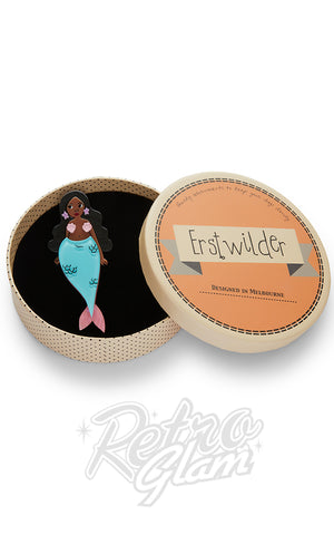 Erstwilder Just Add Water Mermaid Brooch style 2 box