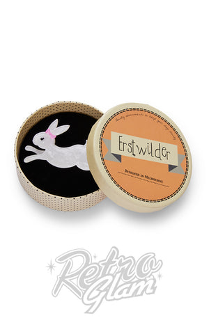 Erstwilder Marshmallow Rabbit Brooch box