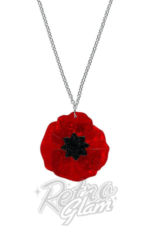 Erstwilder Poppy Field Pendant Necklace