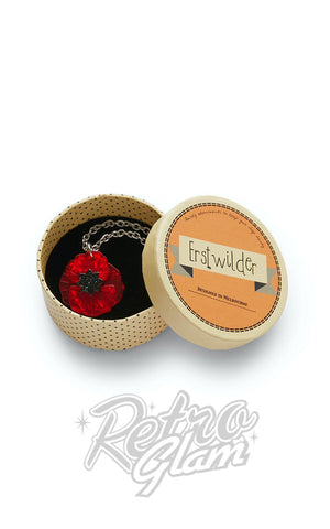Erstwilder Poppy Field Mini Pendant Necklace box