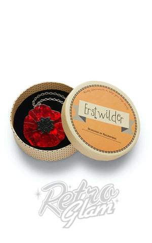 Erstwilder Poppy Field Pendant Necklace box