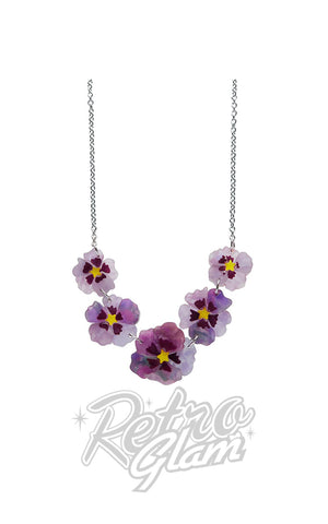 Erstwilder Purple Prose Necklace