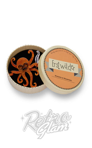 Erstwilder Octavious The Octo-Scribe Brooch box