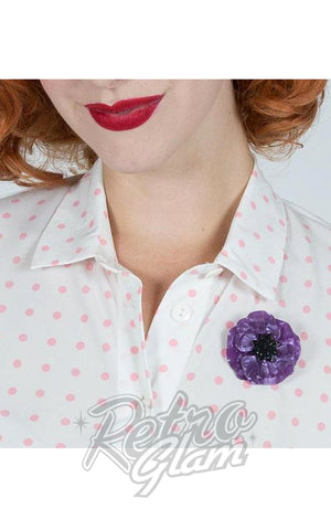 Erstwilder Poppy Field Brooch in Purple model