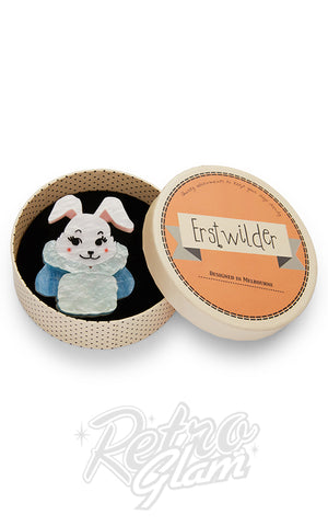 Erstwilder Snuggly Buffy Bunny Brooch box