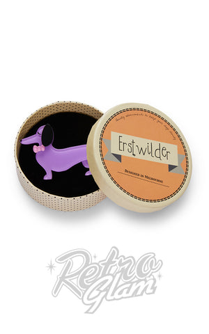 Erstwilder Spiffy the Sausage Dog Brooch box