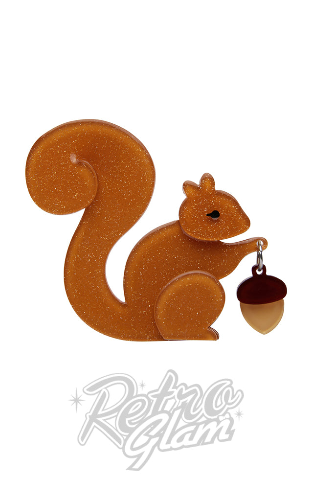 Erstwilder The Satisfied Squirrel Brooch