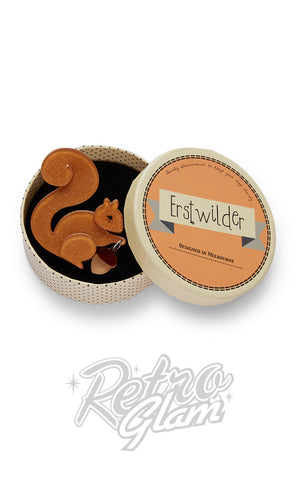 Erstwilder The Satisfied Squirrel Brooch box