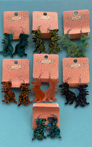 Erstwilder Dinosauria Essentials Tyrannosaurus Drop Earrings - Assorted Colours