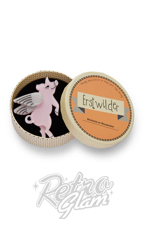 Erstwilder Pigs Can Fly Brooch box