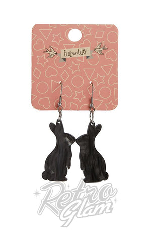 Erstwilder Bunny Textured Resin Drop Earrings - Assorted Colours