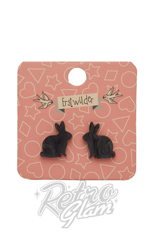 Erstwilder Bunny Textured Resin Stud Earrings - Assorted Colours
