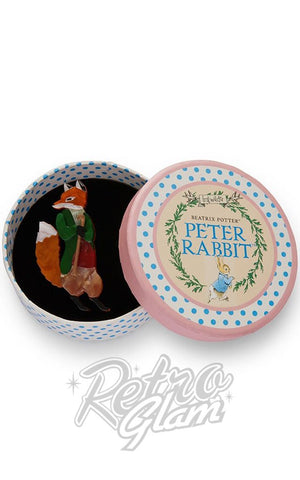 Erstwilder Peter Rabbit Collection Mr. Todd resin Brooch in gift box