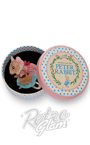 Erstwilder Peter Rabbit Collection Mrs. Tittlemouse resin Brooch in gift box