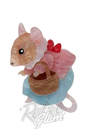 Erstwilder Peter Rabbit Collection Mrs. Tittlemouse resin Brooch