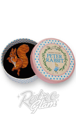 Erstwilder Peter Rabbit Collection Squirrel Nutkin resin Brooch with gift box