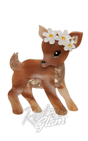 Erstwilder Buttercup fawn resin Brooch