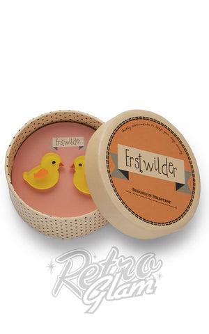 Erstwilder Charming Chicks resin Earrings gift box